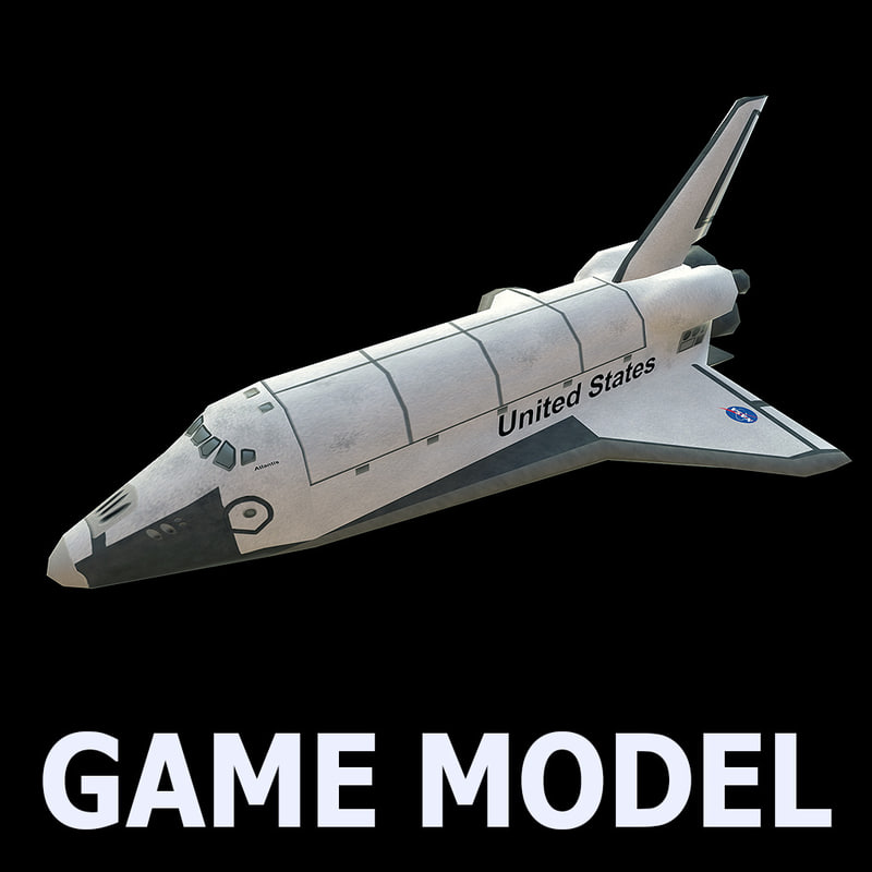 3d space shuttle model for Outer space 3d model