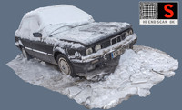 old car snow 3d max