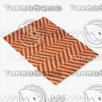 3d chalet herringbone flatwoven orange