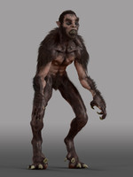 3d werewolf animation model