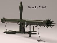 bazooka m9 3d model