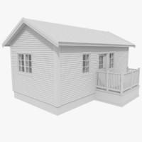 3ds max scandinavian cabin interior exterior