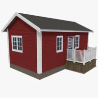 scandinavian cabin 3d model