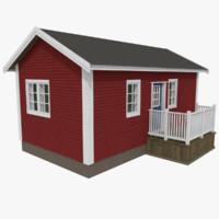 scandinavian cabin interior exterior 3ds