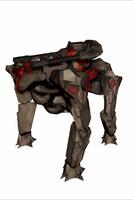 robot hybrid tank 3d fbx