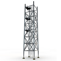 3d model metal scaffolding tower