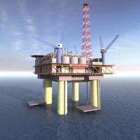 maya rig oil oilrig