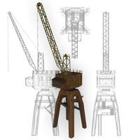 3d model of crane port
