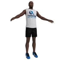 3d model athlete man