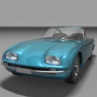 3d model lamborghini 350 gt