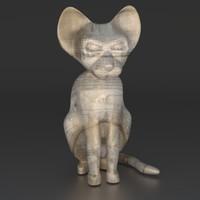 cat figure 3d model