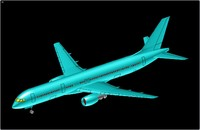 C-32 Transport Aircraft Solid Assembly Model