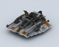 3ds max lego snowspeeder