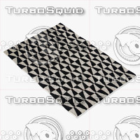black white rug 3d 3ds