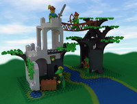 lego forestmen crossing 3d model