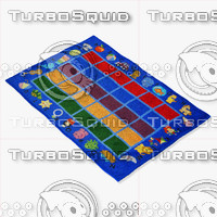 3d blue kids rugs ikea model