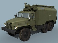 ural-43203 command vehicle 3d model