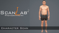 3ds max male scan