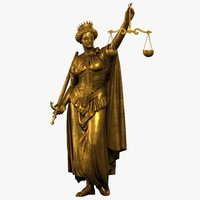 3d model lady justice