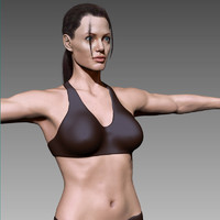 3d model angelina jolie female body