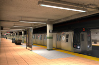 new york subway stations 3d model