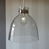 Pendant industrial glass lamp