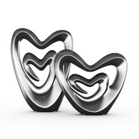 3d hearts figurine