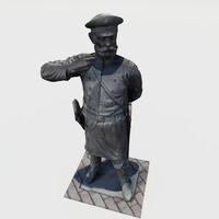 3d max statue russia