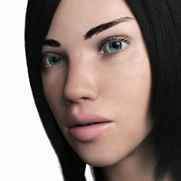 3d model of woman adriana