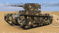 wwii t-26 1933 soviet tank 3d model