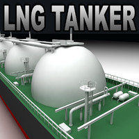 3d lng tanker ship model