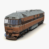 3d model old locomotive