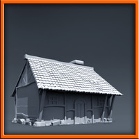 medieval style house modeled 3d 3ds