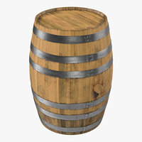 3ds max wooden barrel
