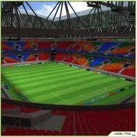 3d max soccer stadium