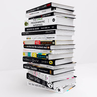set books 1 3d model