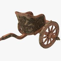 3d roman chariot racing