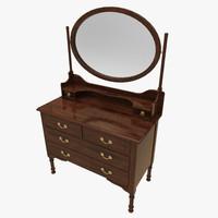 3d vanity chest model