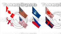 3d flags countries
