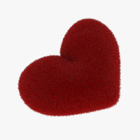 free heart shaped pillow 3d model