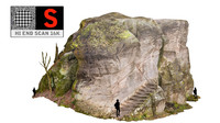 3d model rock mountain stone stairs