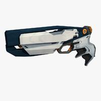 3ds max sci fi pistol gun