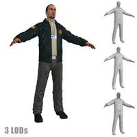 3d model fbi agent 3