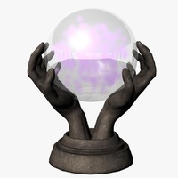 3d model crystal ball