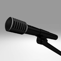 3d c4d microphone mic