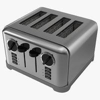 3d toaster 4 slice model