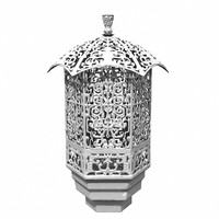 asian lantern 3d obj
