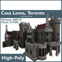 3d model casa loma