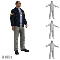 3d rigged fbi agent s