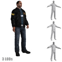 3d rigged fbi agent s model